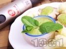 Рецепта Пържени акула котлети или филе на тиган с домашна майонеза с мента и бланширан карфиол
